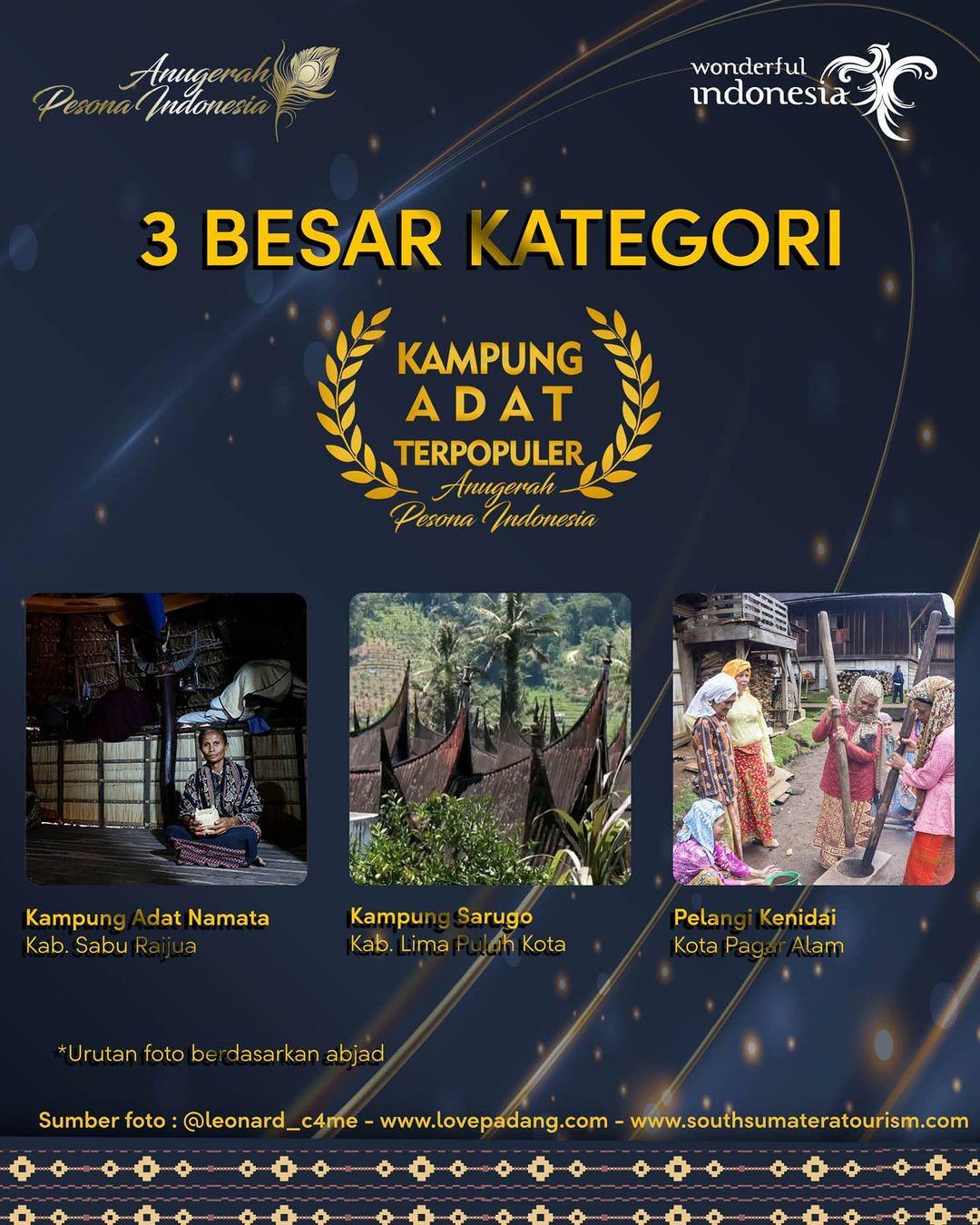 Kampung Adat Namata masuk dalam Nominasi Kampung Adat Terpopuler Anugerah Pesona Indonesia