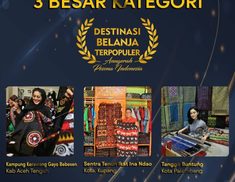 Sentra Tenun Ikat Ina Ndao masuk dalam nominasi Destinasi Belanja Terpopuler Anugerah Pesona Indonesia