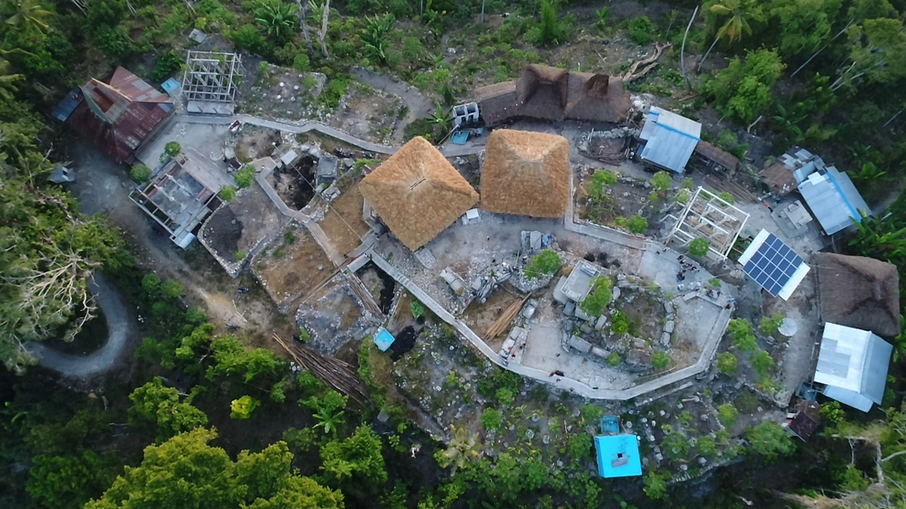 Kampung Adat Bondo Maroto - drone by ubas