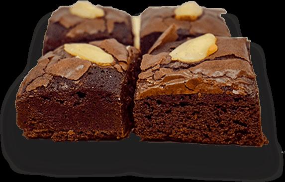Brownies Topping Kenari