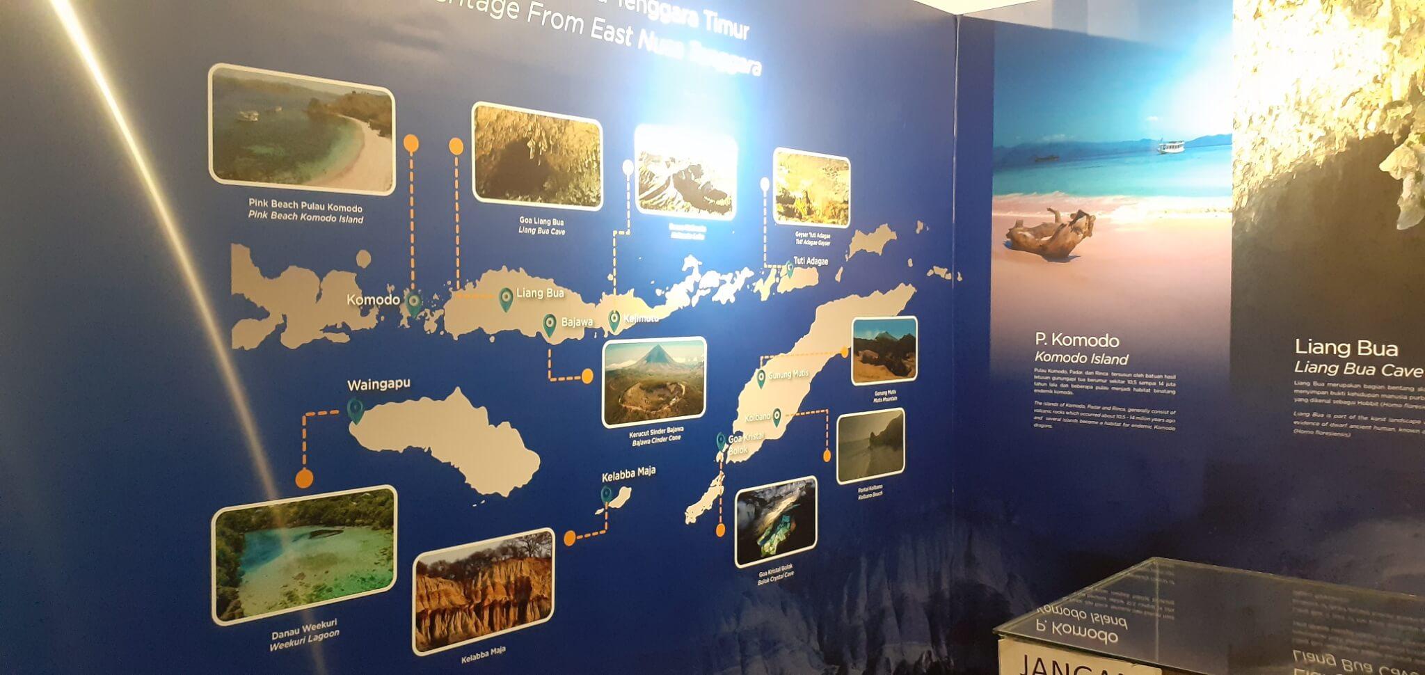 Salah satu Infografis di dalam Pusat Informasi Geologi